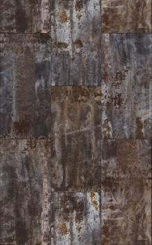 Rasch 7-940909 Factory 3 Metall-Wand grau 4 Bahnen Rost Fototapete
