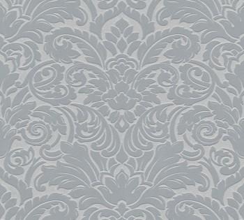 Velourtapete AS Creation Castello 33583-3 silber-grau Ornamente Verzierung