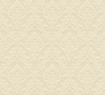 33582-1, 335821 Velourtapete Castello AS Creation elfenbein Ornamente klein
