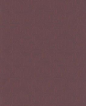 Eijffinger Siroc 55-376061 dunkel-rot Labyrinth Vlies-Tapete