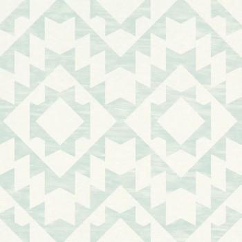 23-148674 Boho Chic Rasch Textil Tapete Muster fjordgrün Vlies