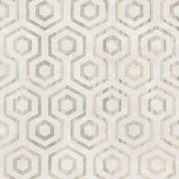 Concetto Rasch Textil 23-109850 Mustertapete hellelfenbein rund