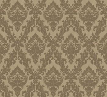 33582-4, 335824 Velour Tapete Castello AS Creation kleine Ornamente gold