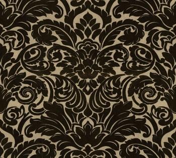 33583-4 Velourtapete Castello AS Creation gold-schwarz Verzierung Ornamente