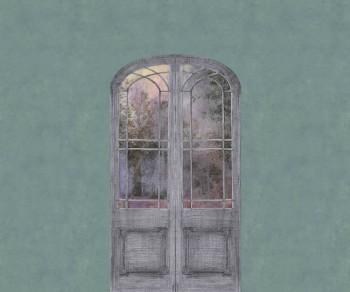 Green-Blue Mural Door Nature 62-ODED191309 Tenue de Ville ODE
