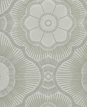Eijffinger Lounge 55-388752 Vliestapete Mintgrün Glasperlen Retro Blumen