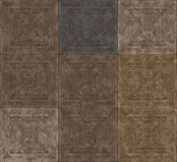 23-107657 Ambrosia Rasch Textil Tapete kariert erdbraun