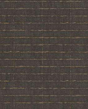 55-376072 Eijffinger Siroc dunkel-braun gewebt Blockmuster Vliestapete