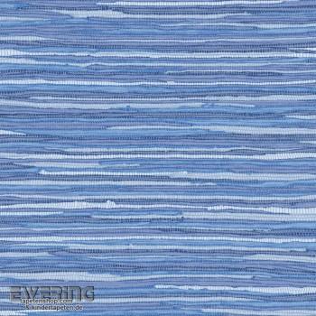 Rasch Textil Cabana 23-148622 blau Grasgewebe-Optik Vliestapete
