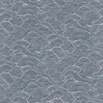Rasch BARBARA home Vlies-Tapete 7-527155 Wellen dunkel-blau Wohnzimmer