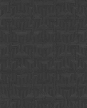 55-376066 Eijffinger Siroc schwarz Vliestapete Labyrinth Wohnzimmer