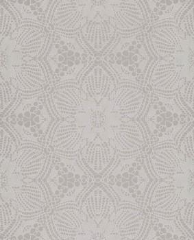 Eijffinger Siroc 55-376058 Tapete Vlies Blumen glänzend hell-grau