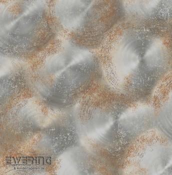 23-022337 Reclaimed Rasch Textil silber Rost Kreise Vlies-Tapete
