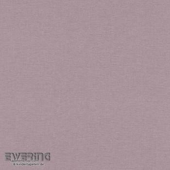 7-448535 Florentine Rasch Uni Leinenstruktur Vlies grau-violett