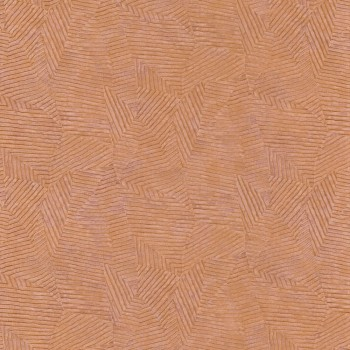 Tapete Kupfer Blättermuster