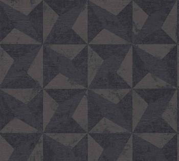 AS Titanium 2 8-36001-2 Dreieck grafisches Muster grau-braun Vlies Tapete