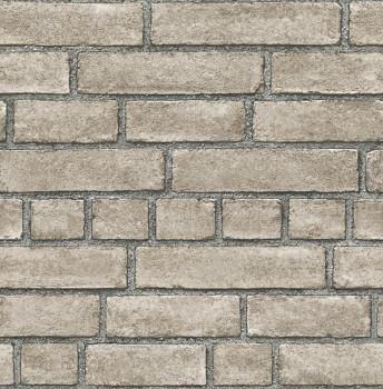 23-024052 Rasch Textil Restored grau Vliestapete Maueroptik Stein