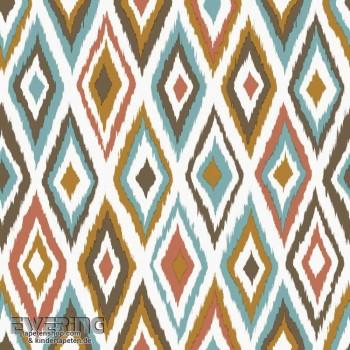 Rasch Textil Cabana 23-148633 Ethno-Design Tapete braun Rauten