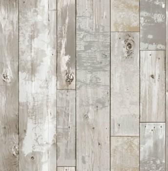 Restored 23-024054 Rasch Textil Holz Latten Vlies Tapete beige