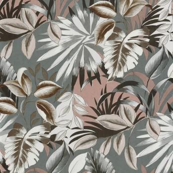Tapete Blumen grau rosa Casamance - Rio Madeira 48-74260150