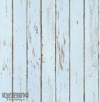 23-362274 Strictly Stripes Hell-blau Holz-Optik Vinyltapete