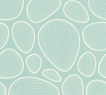 Vliestapete AS Creation Contzen Artist Ed.No.1 34122-3 mint-blau Muscheln