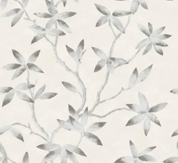 23-200700 Capri Rasch Textil Vliestapete Blumenranken silber