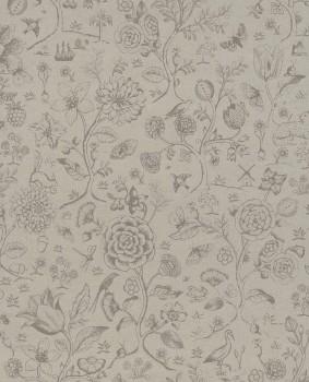 Eijffinger PIP Studio 55-375011, Vliestapete taupe Blumen