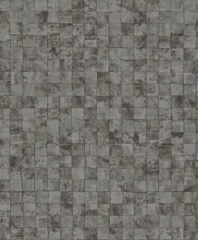 23-200716 Capri Rasch Textil Tapete Fliesen kariert zementgrau