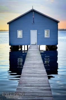 Rasch Textil Cabana 23-158611 Wandbild Bootshaus blau Meer
