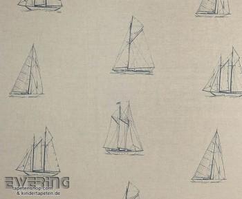 36-MRN25186207 Casadeco - Marina Texdecor taupe Dekostoff Boot