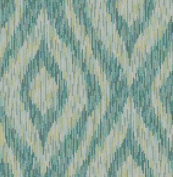 23-024219 Gravity Rasch textile wallpaper green retro non-woven stripes