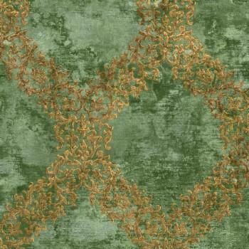 Rasch Textil Concetto 23-109845 Tapete grün Muster kariert