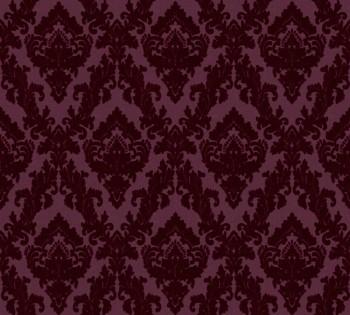 AS Creation Castello 33582-5, 335825 bordeaux-rot Ornamente klein Velourtapete