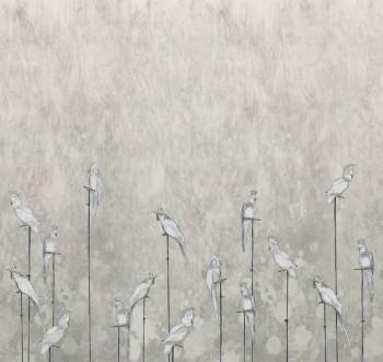 Wandbild Beige Papageien Weiß 62-ODED191505 Tenue de Ville ODE