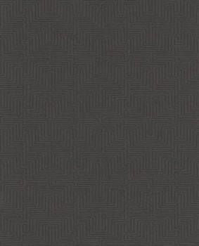 55-376063 Eijffinger Siroc anthrazit Labyrinth Muster Vliestapete