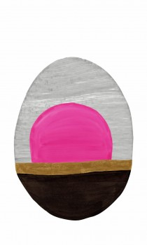 Oval Wandbild Grau Pink Tenue de Ville SAUDADE 62-SAUD211606
