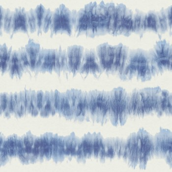 23-148689 Boho Chic Rasch Textil Vliestapete Streifen Batik blau