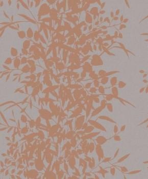 37-NG2004 Grandeco Nordic Elegance Vlies Tapete kupfer-grau Pflanzen