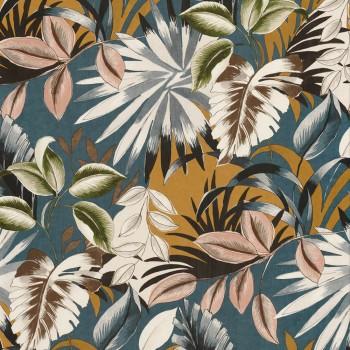 Tapete Blumen blau gelb Casamance - Rio Madeira 48-74260354