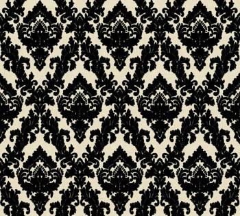 Velourtapete AS Creation Castello 33582-6 schwarz-creme kleine Ornamente