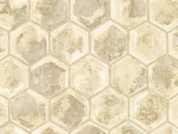 Rasch Textil Ambrosia 23-107603 Tapete beige Wabenoptik