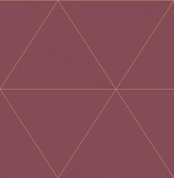 Rasch Textil 23-024226 Gravity Vliestapete Dreieck Grafik weinrot