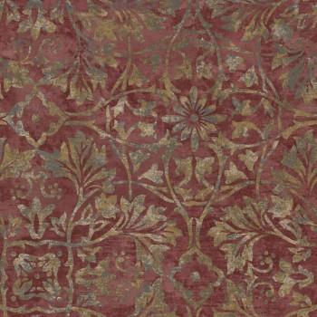 23-109838 Concetto Rasch Textil Vliestapete Muster bordeaux gold