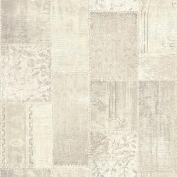 Boho Chic Rasch Textil 23-148329 Tapete perlweiß kariert