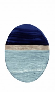 Blau Hellblau Oval Wandbild Tenue de Ville SAUDADE 62-SAUD211610