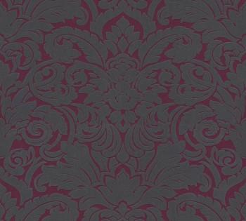 AS Creation Castello 33583-5 lila-grau Verzierungen Ornamente Velour Tapete