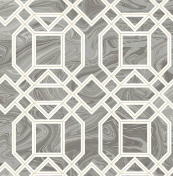Rasch Textil 23-024245 Gravity Mustertapete Retro kaltgrau