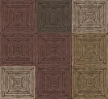 Ambrosia Rasch Textil 23-107658 Tapete schokoladenbraun kariert