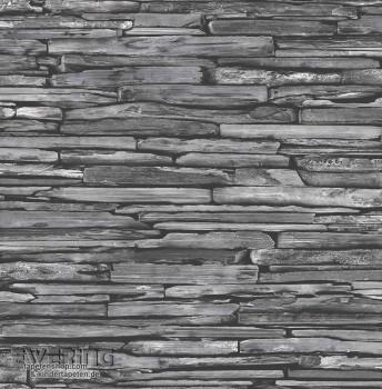 23-022352 Reclaimed Rasch Textil grau Vliestapete Schieferoptik
